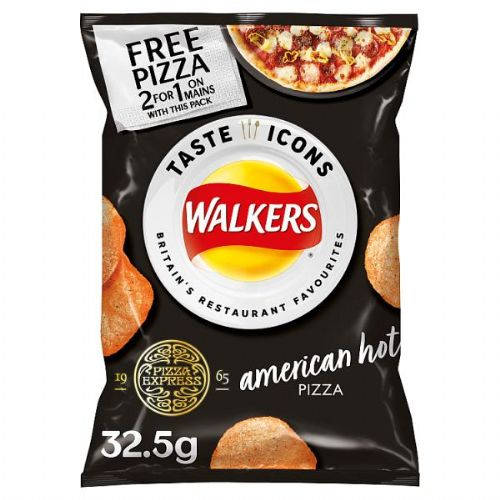 Walkers PizzaExpress American Hot Pizza Flavour Crisps 32.5g (UK) ( Dated 27th June )